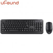 方正(uFound)R751无线键盘鼠标套装办公用防水笔记本外接薄膜键盘