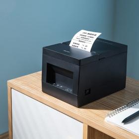得力DL-801PS热敏票据打印机外卖自动厨房打单餐饮菜单超市收银