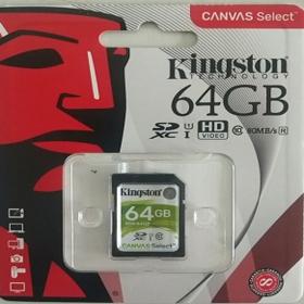 金士顿(Kingston)64G SD卡 存储卡 80M 高速 连续拍摄更流畅