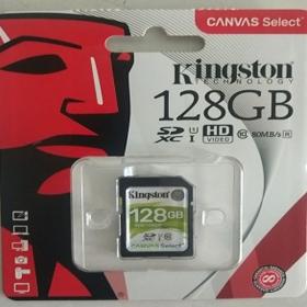 金士顿(Kingston)128G SD卡 存储卡 80M 高速 连续拍摄更流畅