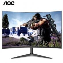 AOC C27B1H 27英寸1700R曲面HDMI接口1080P全高清 爱眼不闪屏电竞、设计显示器          冠捷27寸曲面液晶显示屏