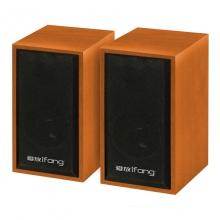 爱放M010木纹色 音箱 高品质音箱 电脑音响台式家用小音箱低音炮有线喇叭 爱放音箱