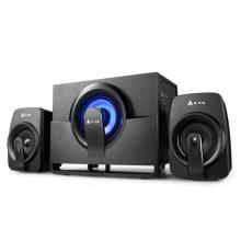 金河田Q7 2.1声道音响 电脑音箱 有源多媒体重低音炮 黑色