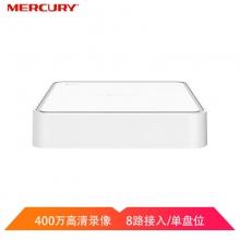 MERCURY 水星8路单盘位监控主机H265+网络智能高清网络硬盘录像机 MNVR408
