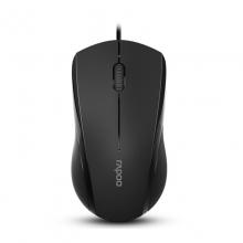 雷柏N1600鼠标 ,雷柏(Rapoo)N1600有线光学静音鼠标 黑色