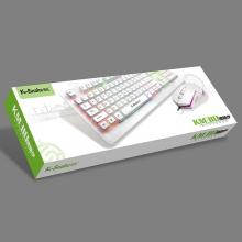 蝰蛇 游戏键盘鼠标套装 彩虹背光字母发光悬浮网吧键盘 KM-310