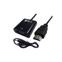 联刀LD020142 HDMI转VGA带音频/25cm