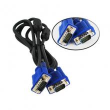 【10条送1条】蓝头VGA线3+5 VGA线1.5米电脑显示器电视投影仪高清连接线 VGA视频延长数据线 台式主机笔记本加长信号线
