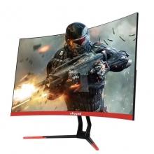 【每晚7点秒杀770元/台】VFound iF2788WPH   27寸曲面 144HZ黑色 IPS超薄金属,无边框,广视角还原真颜色,游戏专属,HDMI,vga双接口
