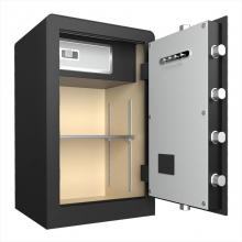 得力(deli)保险柜 70cm家用办公电子密码保险箱 全钢锁栓 可入墙保管箱 3645s 密码钥匙 70cm 黑 364系列