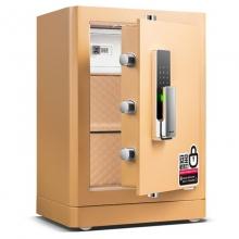 得力 指纹+密码双重锁控保险箱 办公家用防盗保险柜 高62cm 黑色 4116