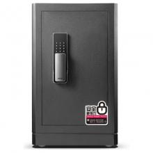 得力 指纹+密码双重锁控保险箱 办公家用防盗保险柜 高82cm 金色黑色 4118