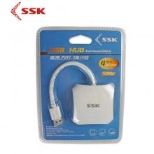 星梭SHU300 USB3.0 HUB 一拖四 4口集线 电脑扩展分线器